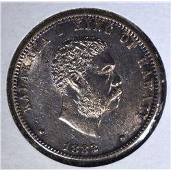 1883 25 CENTS HAWAII CH.BU