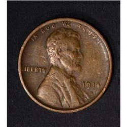 1914-S LINCOLN CENT XF
