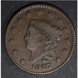 1827 LARGE CENT CHOICE VERY FINE