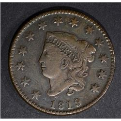 1819 LARGE CENT VF/XF N-6