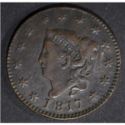 1817 LARGE CENT XF
