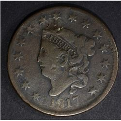 1817 LARGE CENT 15 STARS VERY FINE