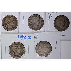 5 - FINE BARBER QUARTERS; 1902, 2-1916,