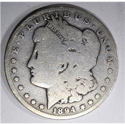 1894-S MORGAN DOLLAR VG, KEY DATE