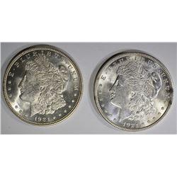 1921 & 1921 D MORGAN DOLLARS GEM