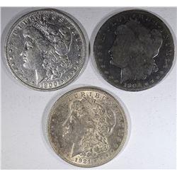 1900, 1901-O, 1921 MORGAN DOLLARS