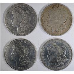 1900-O, 1921-S, 2-1921 MORGAN DOLLARS