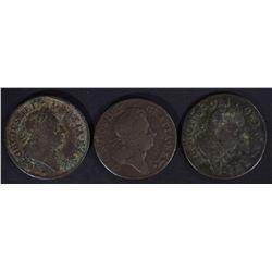 3 - HIBERNIA HALF PENNY from 1700's