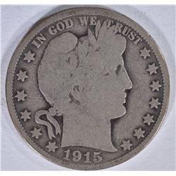 1915 BARBER HALF DOLLAR GOOD