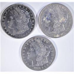 1900-O, 1921, 1921-S MORGAN DOLLARS