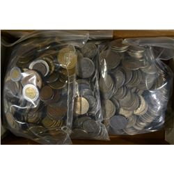 OVER 16 POUNDS MIXED FOREIGN COINS-GOOD MIX