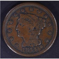 1844/81 LARGE CENT VF