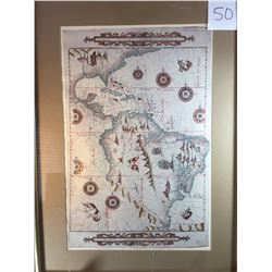 Antique Map - North and South America