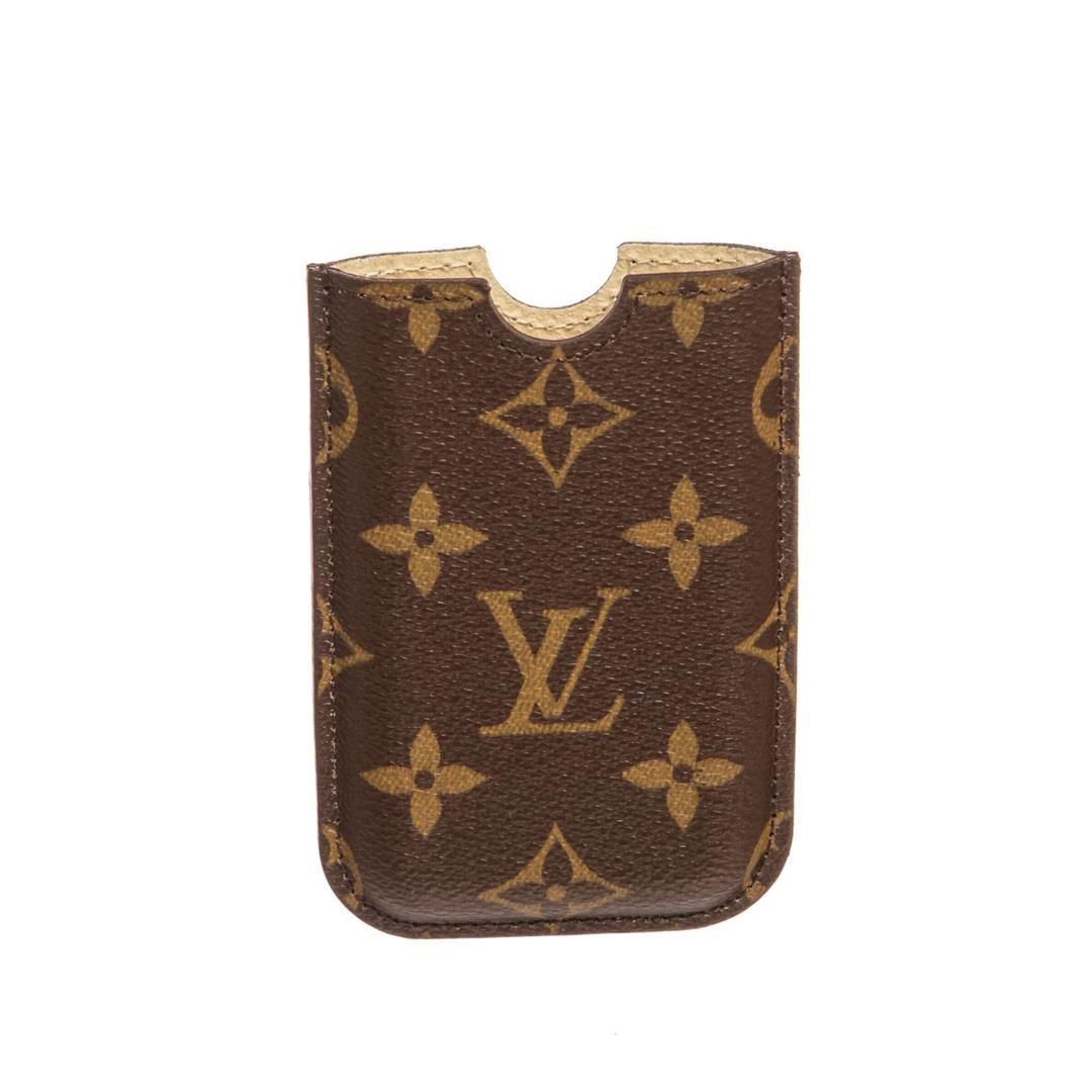 salvare 46962 5297a Louis Vuitton Monogram Canvas Leather Iphone 3 Case Cover