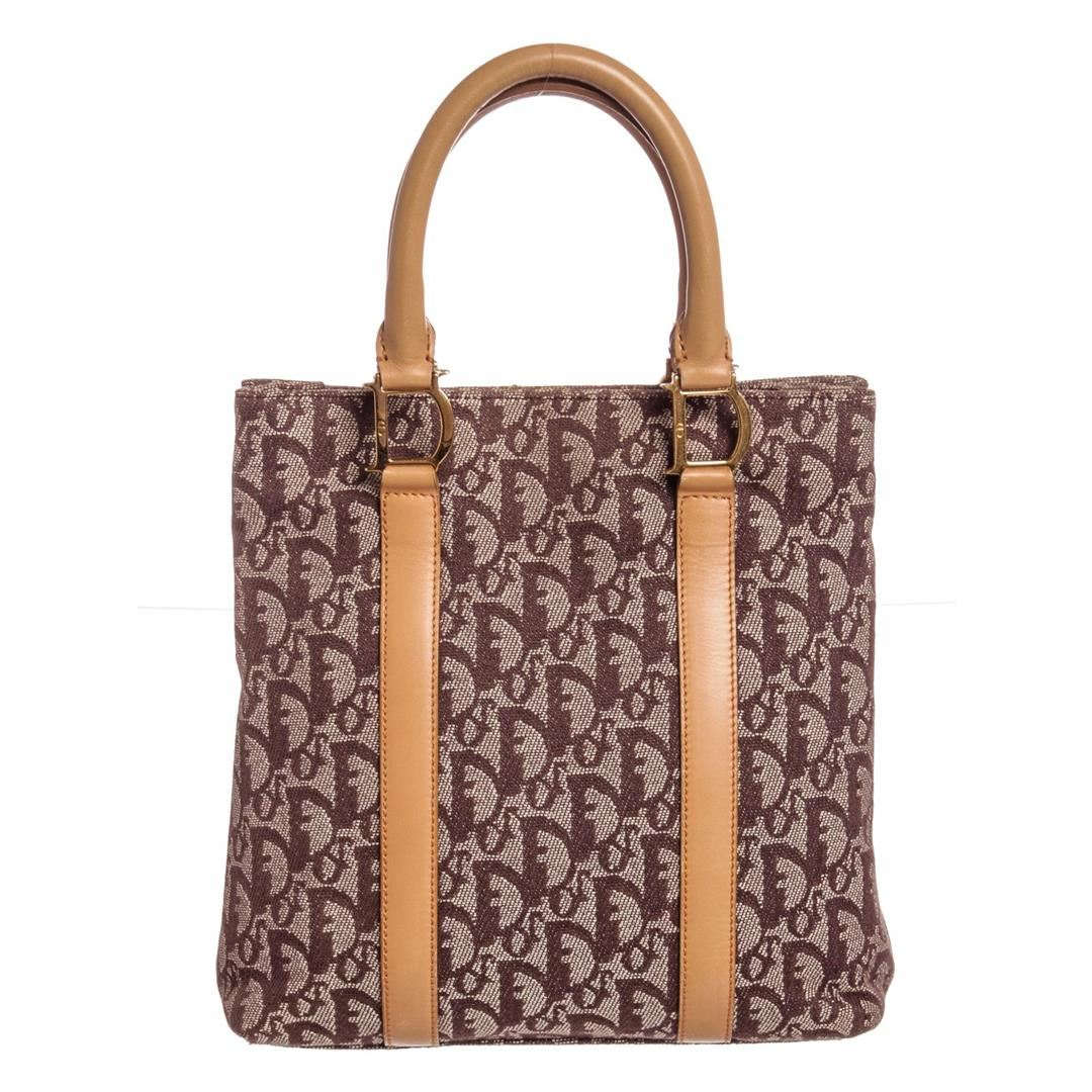 d0ba93cd9c Image 1 : Christian Dior Brown Beige Diorissimo Leather Tote Bag ...