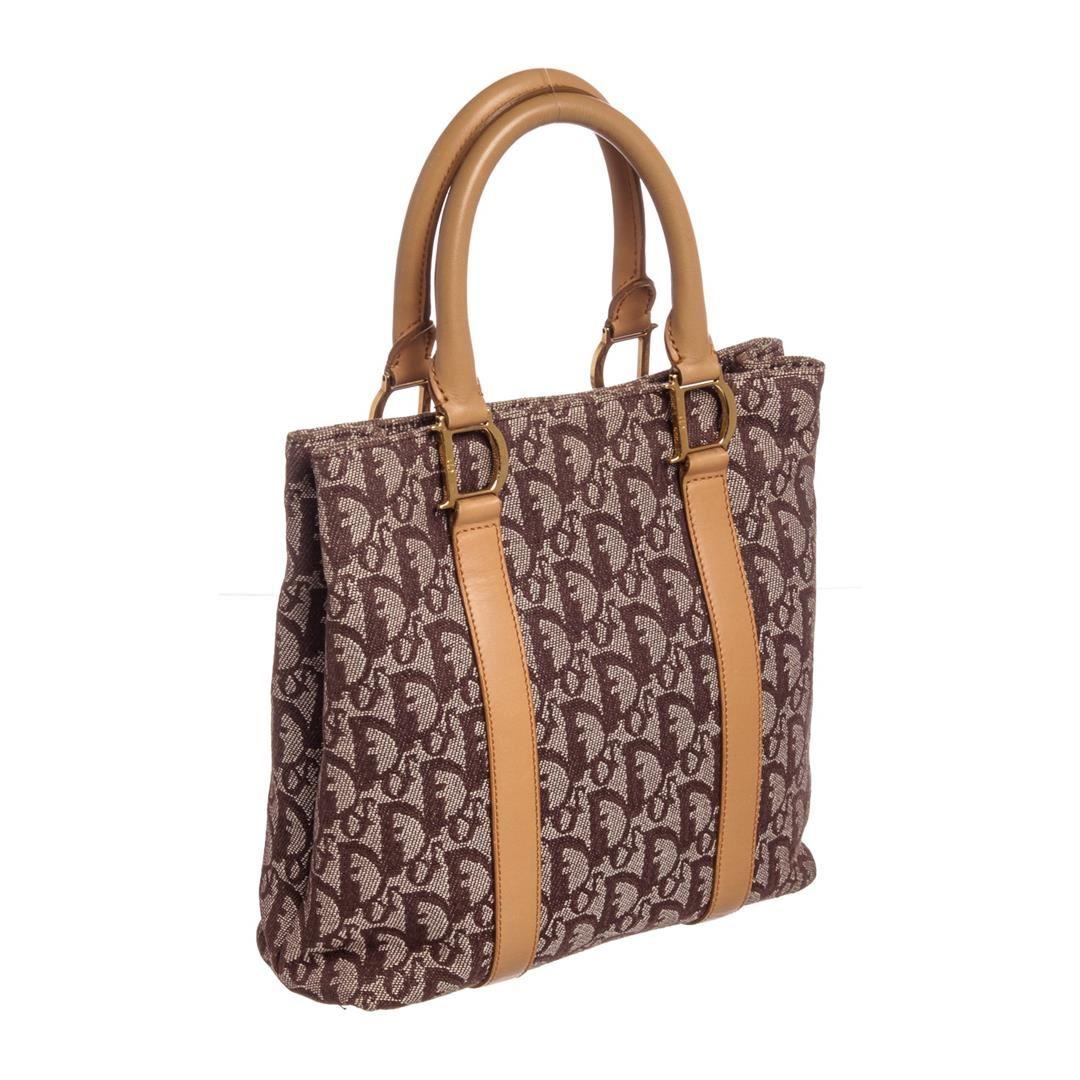 3f4534e58c ... Image 3 : Christian Dior Brown Beige Diorissimo Leather Tote Bag ...