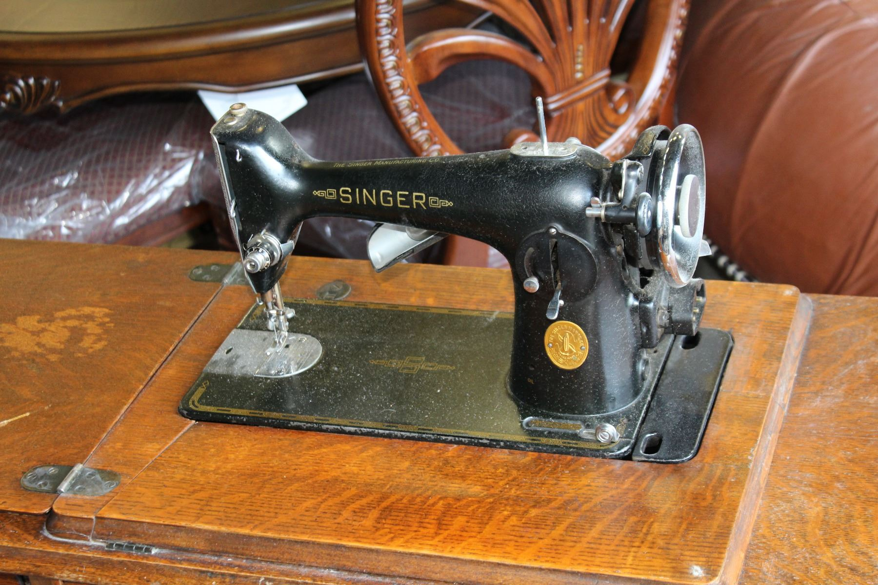 ANTIQUE SINGER SEWING MACHINE NUMBER 115 SEWING JULY 1921 ...