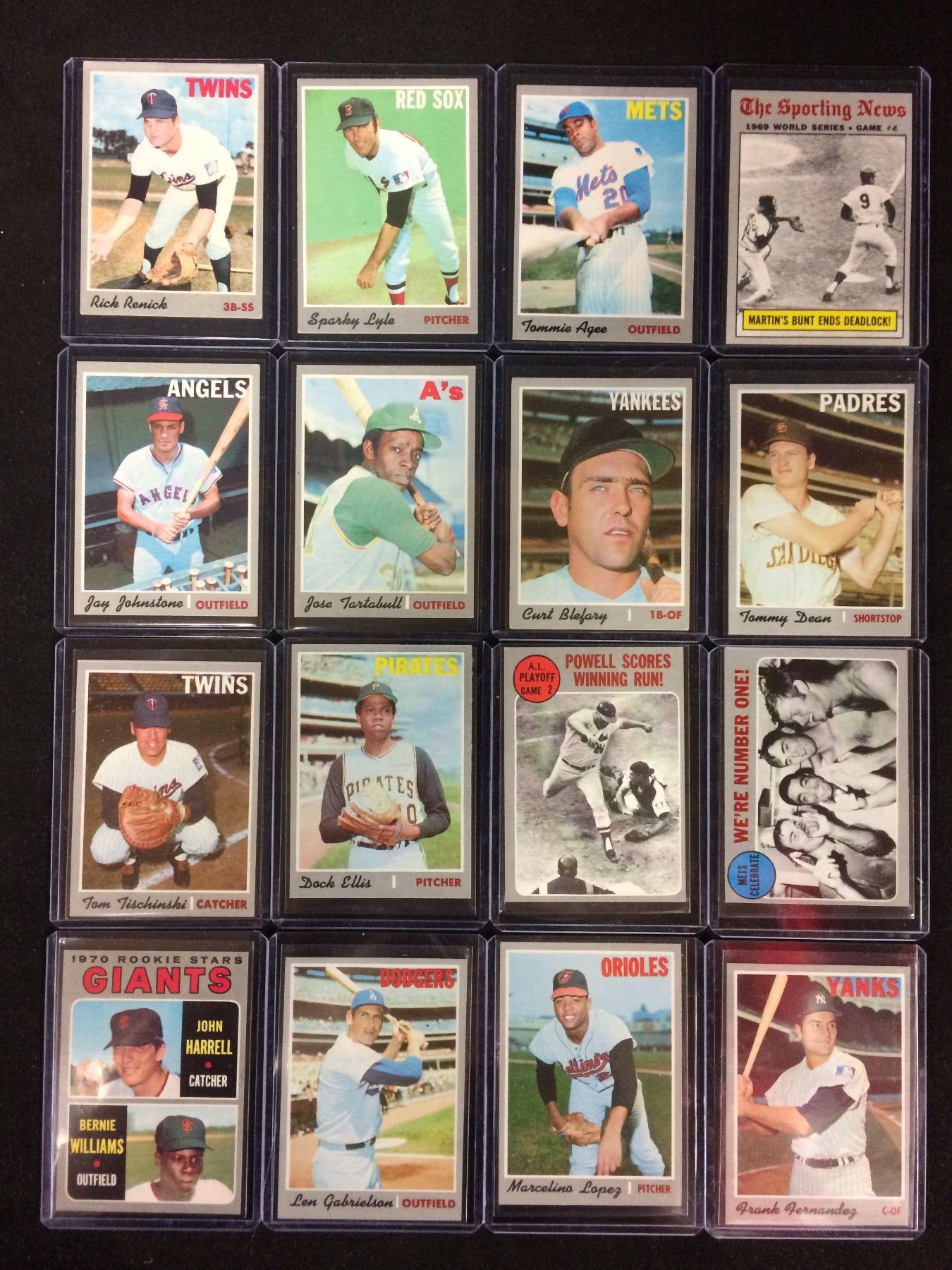 1970 Topps Baseball Card Lot