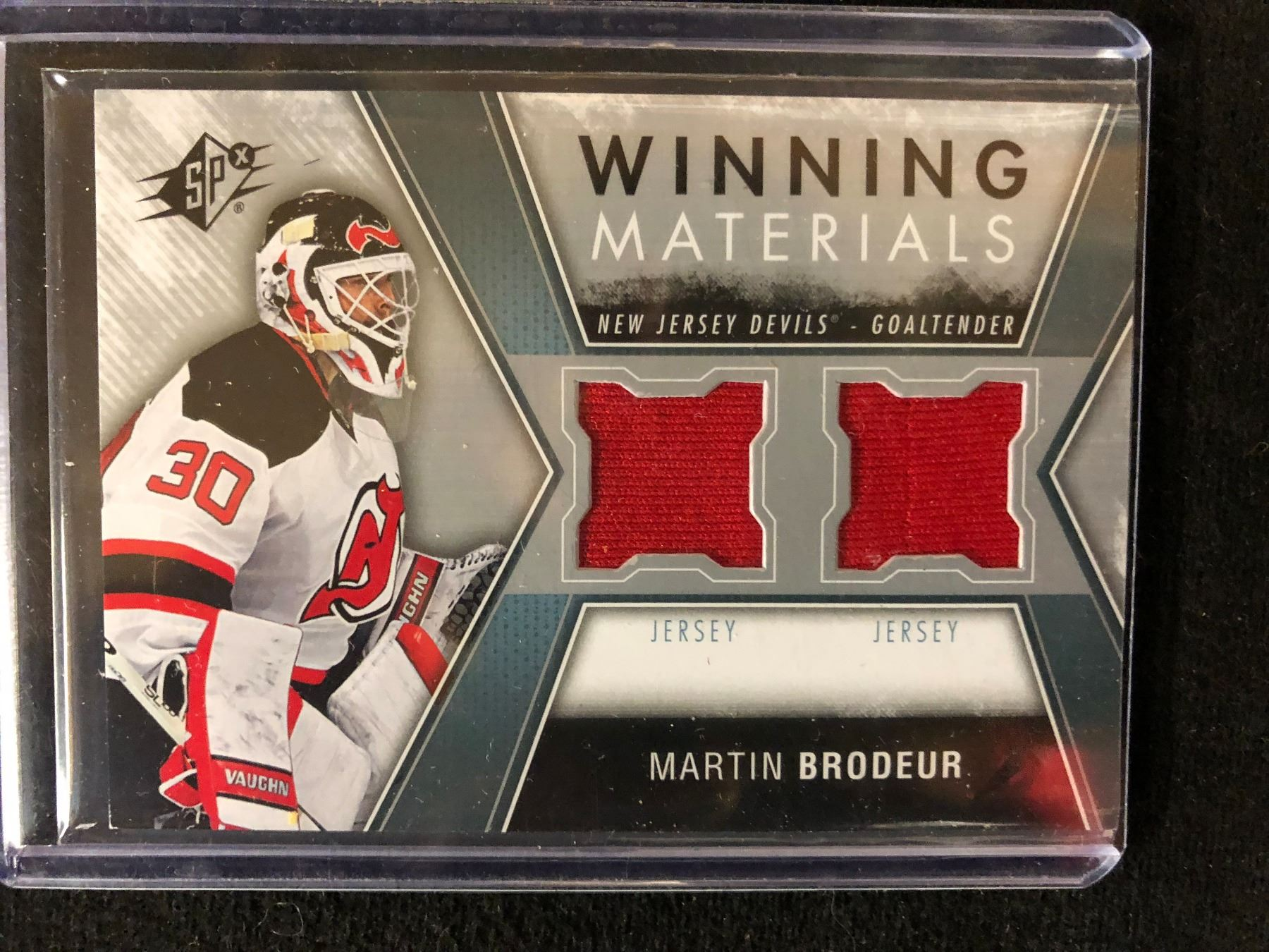 Sp Authentic Martin Brodeur Winning Materials Hockey Card