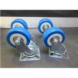 4 New 2 inch Swivel Castors