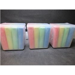 3 New Jumbo SideWalk Chalk / 3 cases with 12 per case Multi Color
