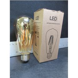 New Case of 6 Edison LED  Antique Bulbs ST64 / 6 watt Dimmable