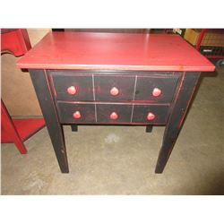 Wood 2 drawer Hallway or Phone desk / 26 x 16 x 28high