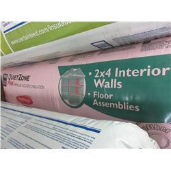 1 New Bale of Quiet Zone Pink for 2 x 4 interior walls Noise Insulation