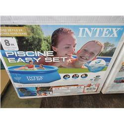 8 foot Intex Above Ground Pool with Pump and Hoses / untested