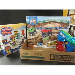 Kids Toys / Play Doh / Bubble Gun / Monster truck Rally