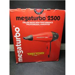 Made in Italy High Performance Hair Dryer / Mega Turbo 2500
