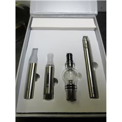 Silver 3 in 1 Wax Vaporizer Pen Kit Dry Herb electronic cigarettes with