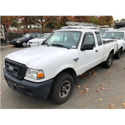 2006 FORD RANGER, EXTENDED CAB PICKUP, WHITE, GAS, AUTOMATIC, VIN#1FTZR45E76PA00232, 154,016KMS,