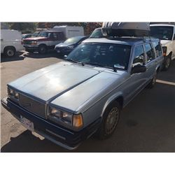 1989 VOLVO 740 4DRSW, BLUE, GAS, AUTOMATIC, VIN#YV1FX8854K3199070, 239,350KMS,