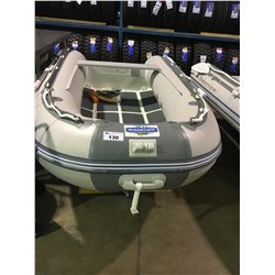 BAKERVIEW  GREY AND WHITE ALU270D  5  PERSON HARD BOTTOM INFLATABLE BOAT
