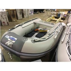 BAKERVIEW  GREY AND WHITE ZYD-270AL 5 PERSON ALUMINUM FLOOR SOFT BOTTOM INFLATABLE BOAT (CART NOT