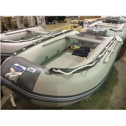 BAKERVIEW  GREY AND WHITE SD-290KAM 5 SOFT BOTTOM INFLATABLE BOAT (CART NOT INCLUDED)
