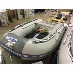 BAKERVIEW  GREY AND WHITE ZYD-270AL 5 PERSON ALUMINUM FLOOR SOFT BOTTOM INFLATABLE BOAT (IN BOX)