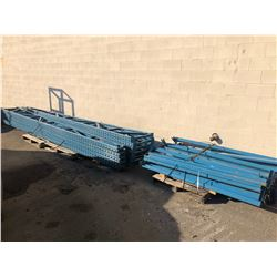 LARGE LOT OF A FRAME PALLET RACKING WITH CROSSBARS