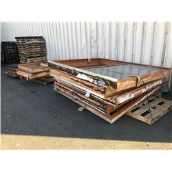 LARGE LOT OF GLASS SLIDING DOORS
