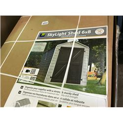 PALRAM SKYLIGHT 6' X 8' POLYCARBONATE SHED (IN BOX)