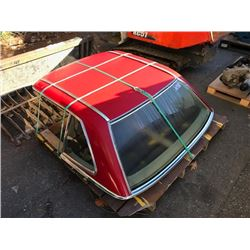 RED MERCEDES HARD TOP