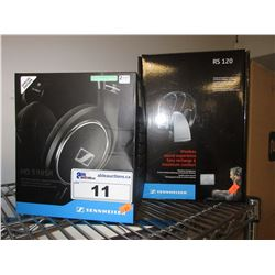 SENNHEISER HD 598SR HEADSET & SENNHEISER RS120 HEADSET