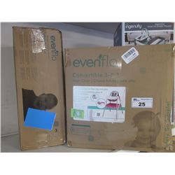 EVENFLO CONVERTIBLE 3-IN-1 HIGH CHAIR & EVENFLO BABY SUITE