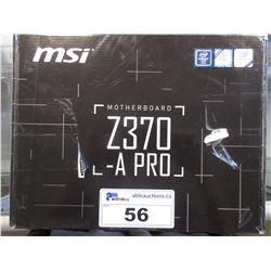 MSI Z360-A PRO MOTHERBOARD