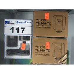 RFN4 WIRED & WIRELESS SHUTTER RELEASE, 2 YONGNUO YN560-TX MANUAL FLASH CONTROLLERS