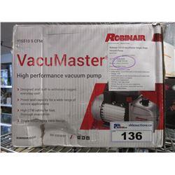 ROBINAIR VACUMASTER 11510 HIGH PERFORMANCE VACUUM PUMP