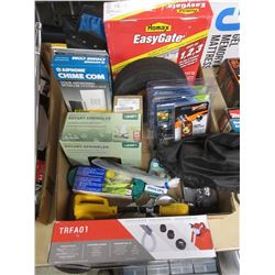 BOX LOT OF ASSORTED TOOLS/EQUIPMENT