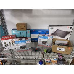 SHELF LOT OF ASSORTED ELECTRONICS