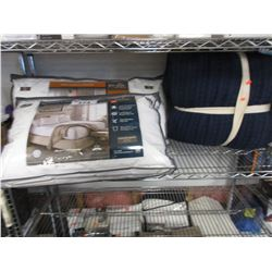 SHELF LOT OF ASSORTED LINEN